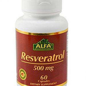 Alfa-Vitamins-Resveratrol-500-Mg-60-Capsules-Cardiovascular-Health-0