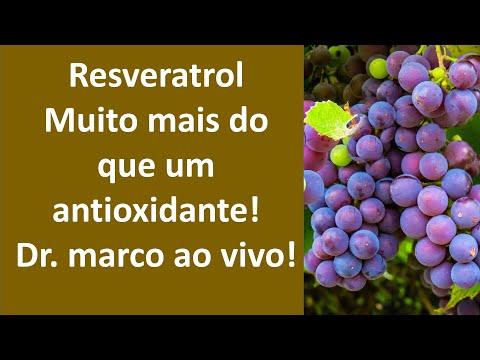 Resveratrol, muito mais do que um antioxidante! Dr. Marco ao vivo!