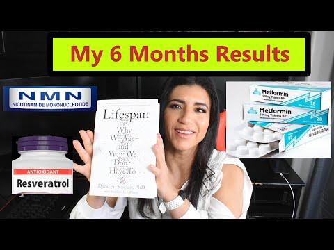 NMN Resveratrol Metformin 6 Months Results.  David Sinclair LifeSpan Review Anti Aging Longevity